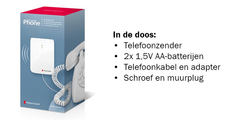 Telefoonzender inhoud doos