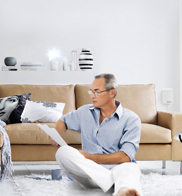 Flitslamp in woonkamer